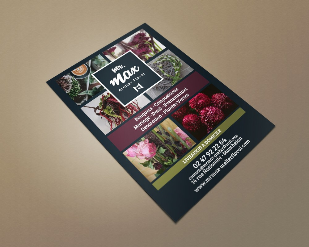 Conception Flyer Mr Max Atelier Floral